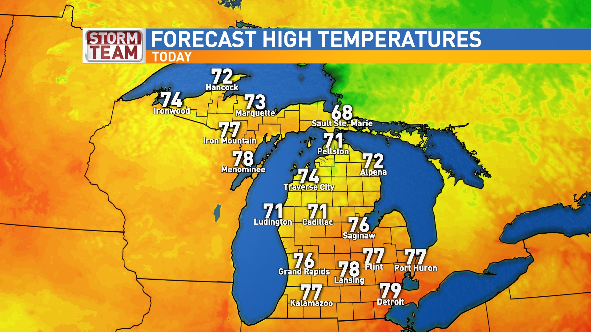 michigan high temps. traverse city maps  news weather sports breaking news  wpbn