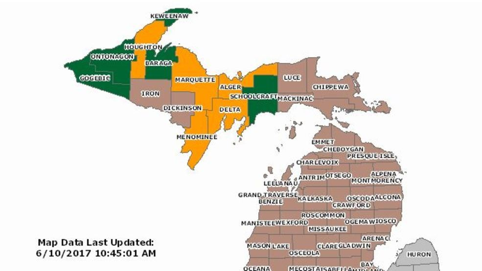 Michigan Dnr Burn Permit Map DNR: No burn permits issued for northern Michigan on Saturday | WPBN